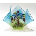 Candle vase - Tree of Life - seven chakra blossom trees