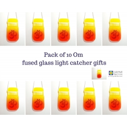 10 Om light catchers - orange and yellow blend
