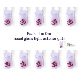 10 Om light catchers - violet purple blend