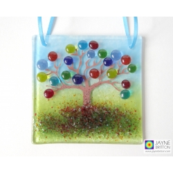 Tree of Life light catcher, seven chakra rainbow blossom tree