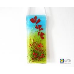 Poppy field, poppies, red flowers, light catcher, cottage garden