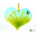 Heart shaped yellow flowers light catcher - cottage garden range