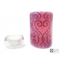 Heartflow heart pattern fused glass sconce, tealight candle holder, curved fused glass panel