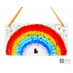 Rainbow light catcher, black cat, rainbow bridge, memorial