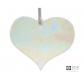 sparkly clear glass heart hanging decoration