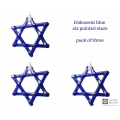Iridescent indigo blue star, light catcher, hanging decoration
