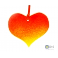 Sunrise fused glass heart light catcher, suncatcher, valentine, mothers day