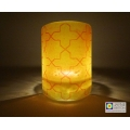 Breath of the Compassionate - sacred geometry pattern sconce - light and candle screen