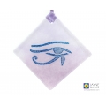 Eye of Horus fused glass light catcher, diamond shaped