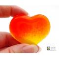 Hand held sunshine heart, pocket hug, worry stone