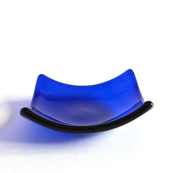 Indigo glass chakra bowl