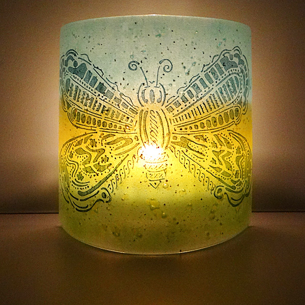 Butterfly Sconce - medium size light and candle screen