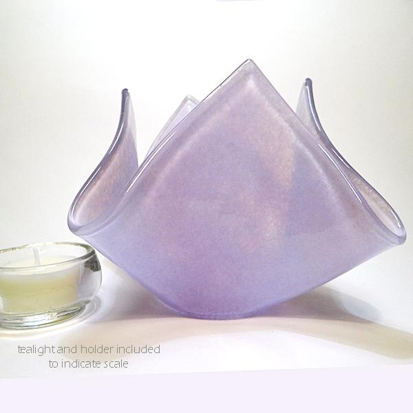 Candle vase - violet blend