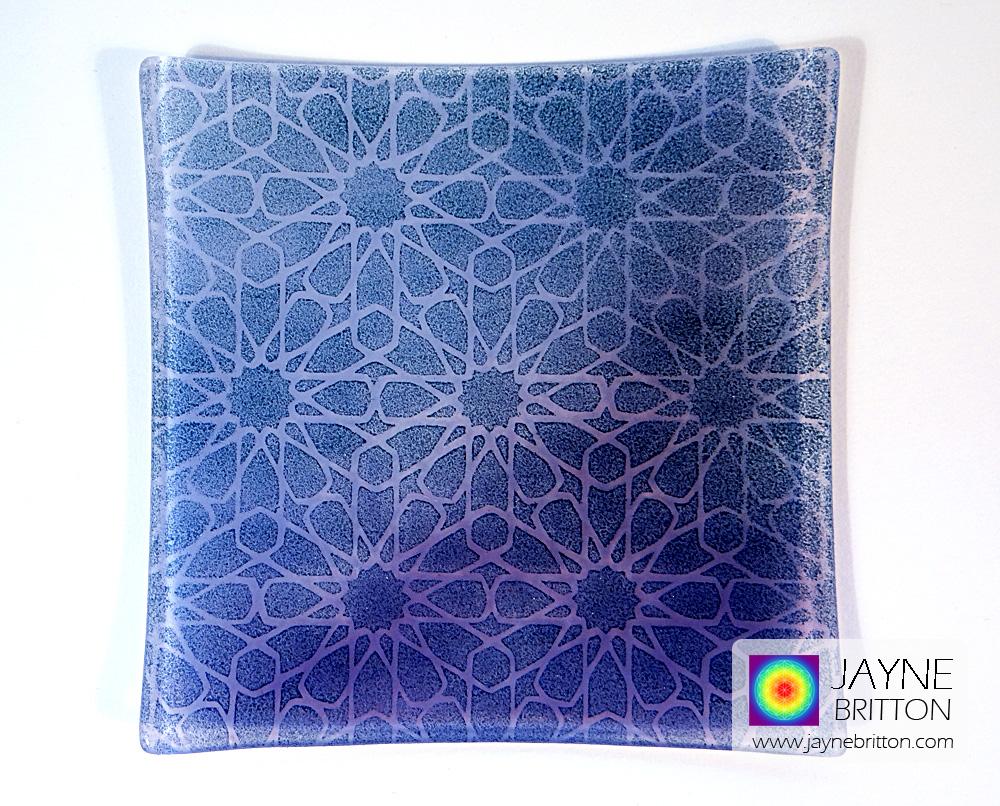 Alhambra Stars plate - purple blend