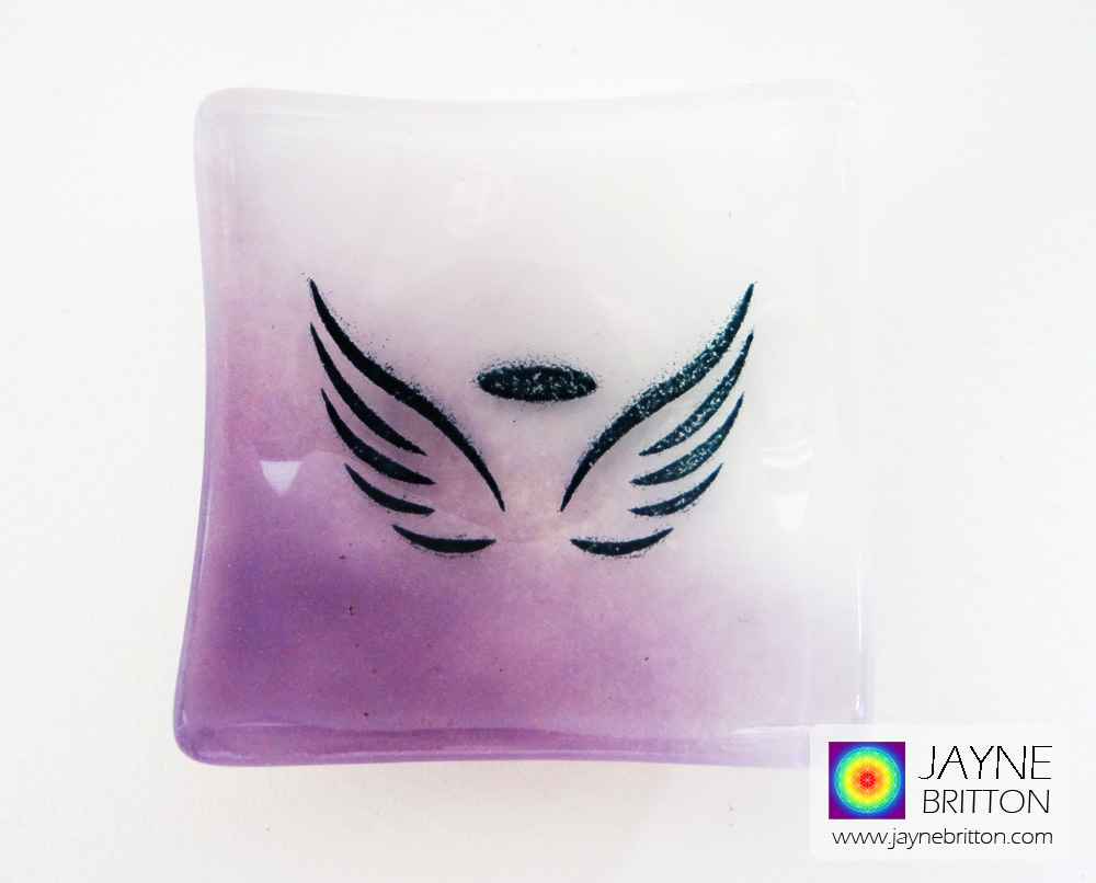 Angel bowl - purple and white blend