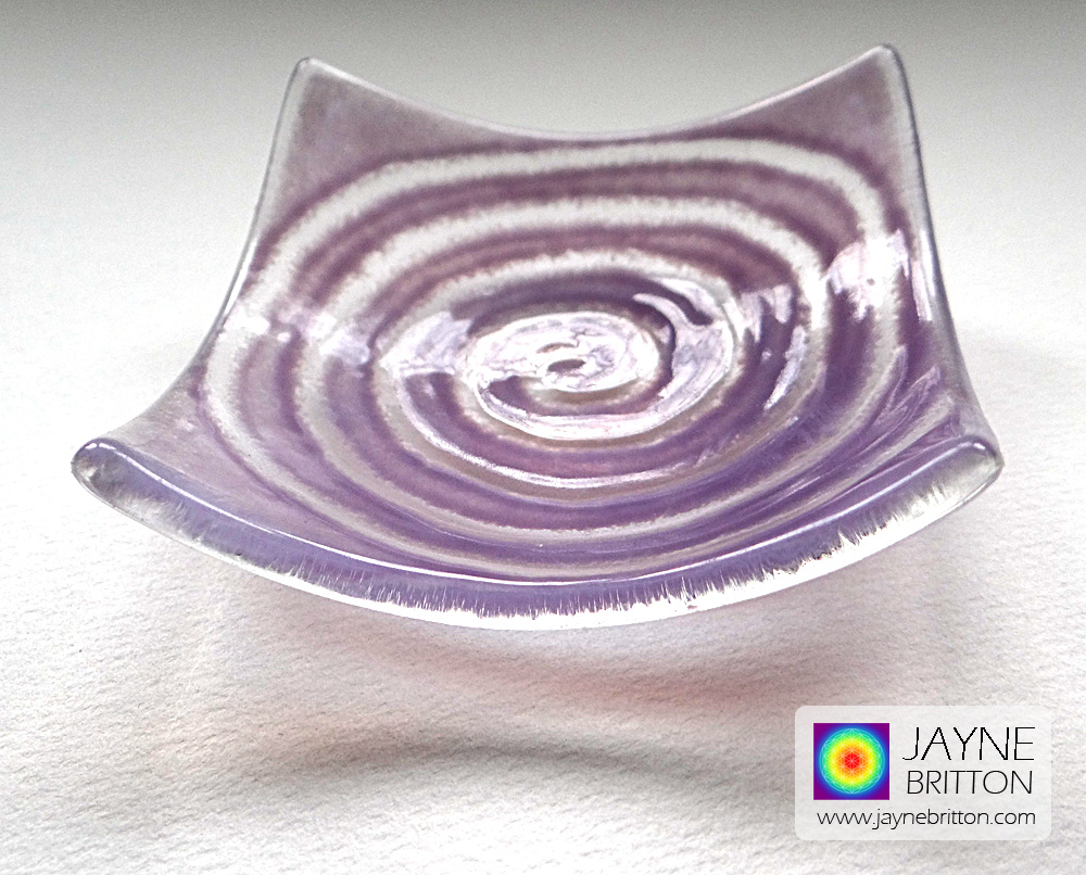 Purple spiral tealight bowl