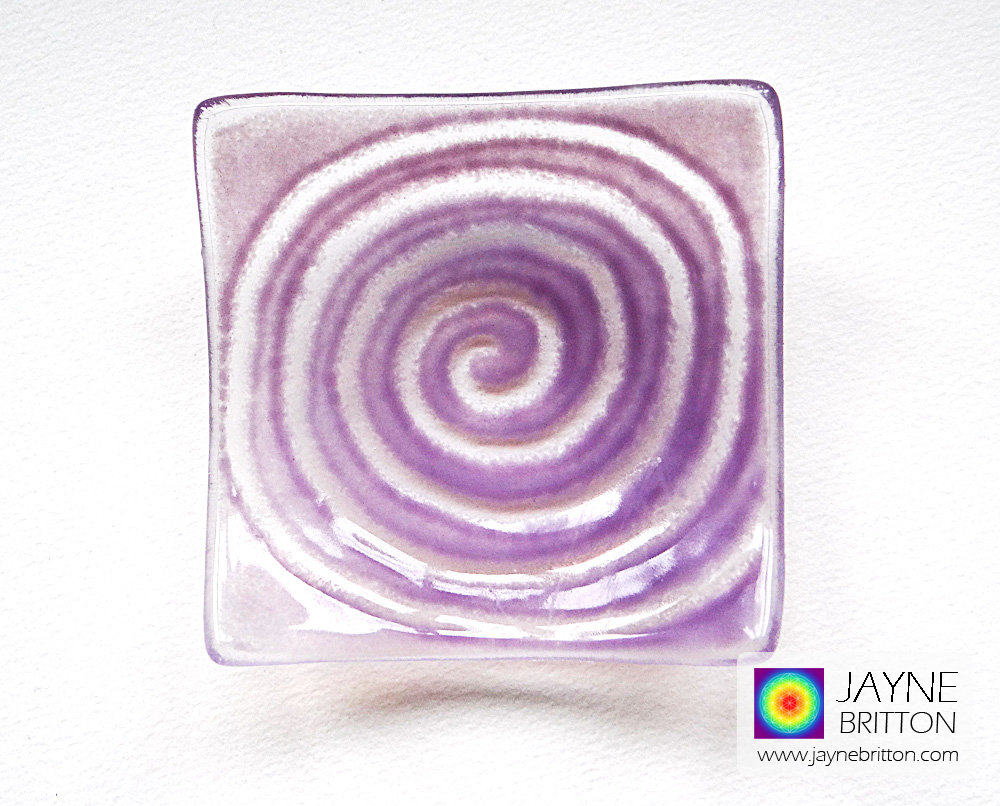 Purple spiral tealight bowl