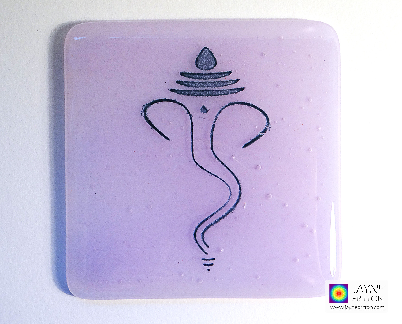 Ganesh coaster - indigo on violet blend