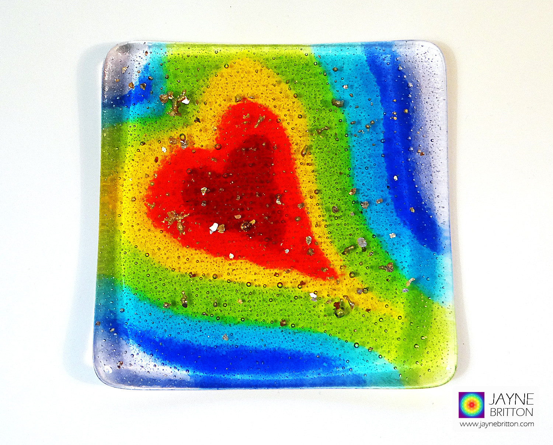 Seven chakras Heartscape plate - option 2