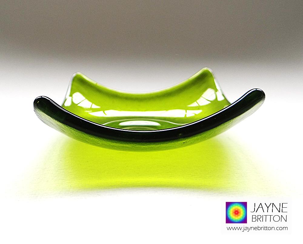 Light green tealight bowl - heart chakra