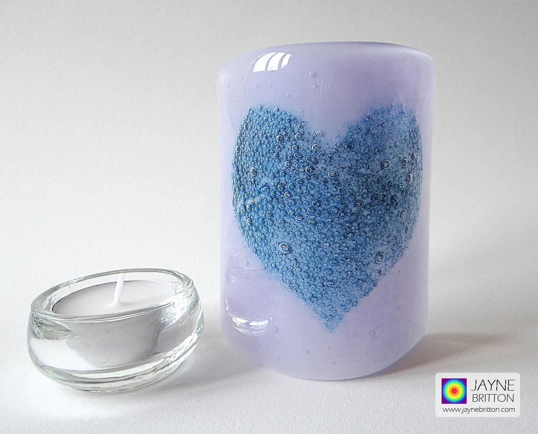Bubbly Heart Sconce - violet purple blend