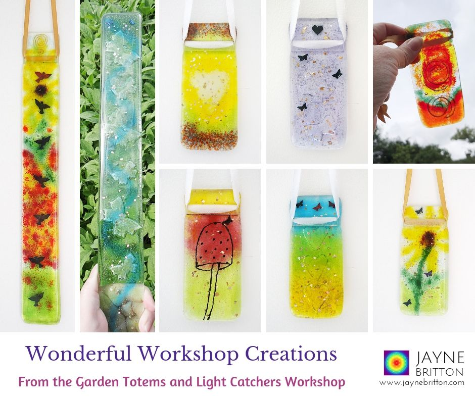 Glass fusing workshop - make a garden totem and two light catchers