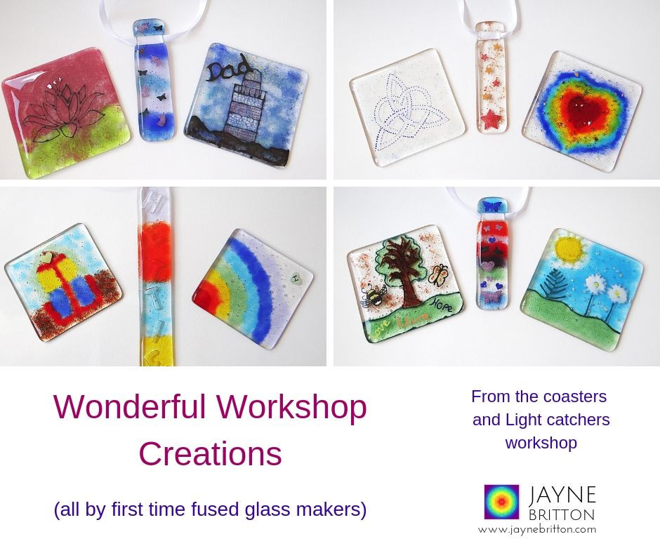 Glass fusing workshop - make two coasters and a light catcher - Lingfield Surrey