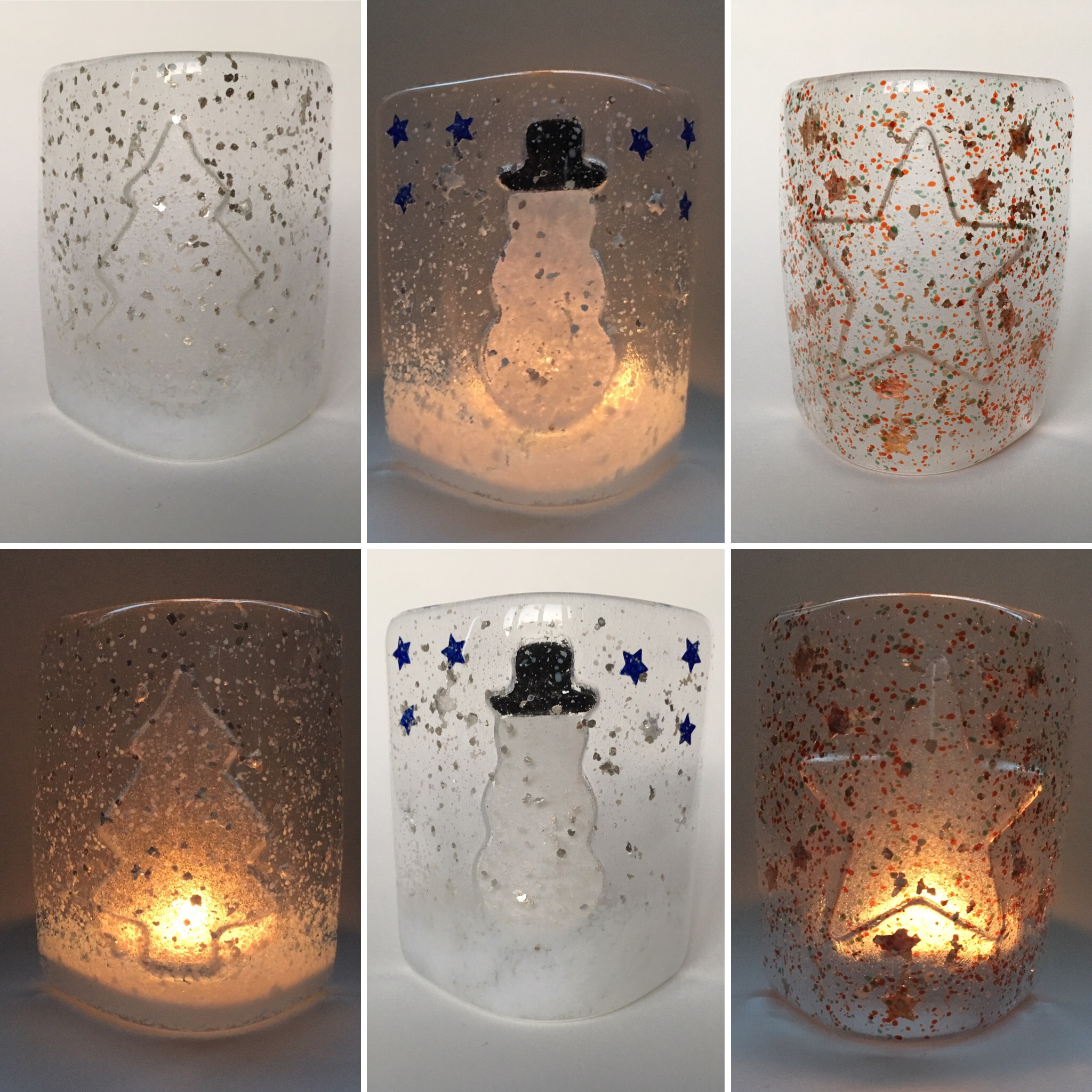 Christmas Fused Glass Workshop - Create a Candle Sconce and two tree decorations