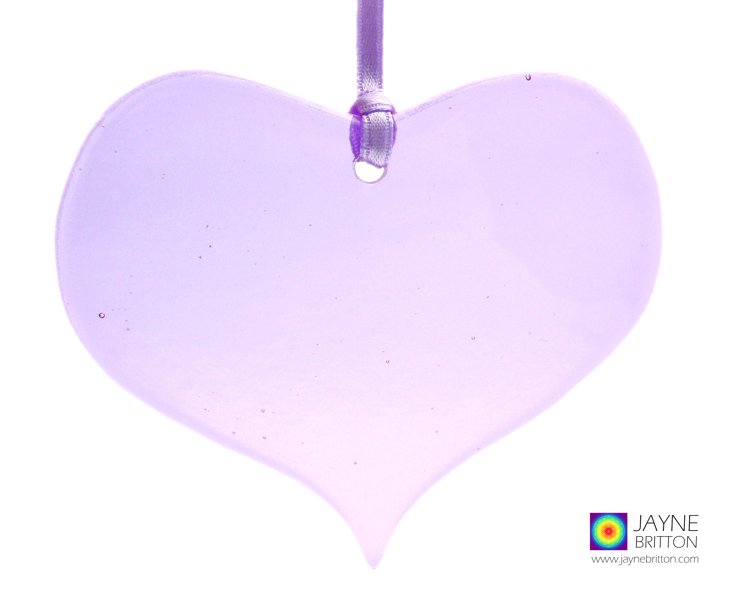 Violet purple heart light catcher, violet suncatcher, fused glass gift, window art